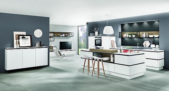 Offene Küche mit Wohnzimmer: Einrichtungstipps