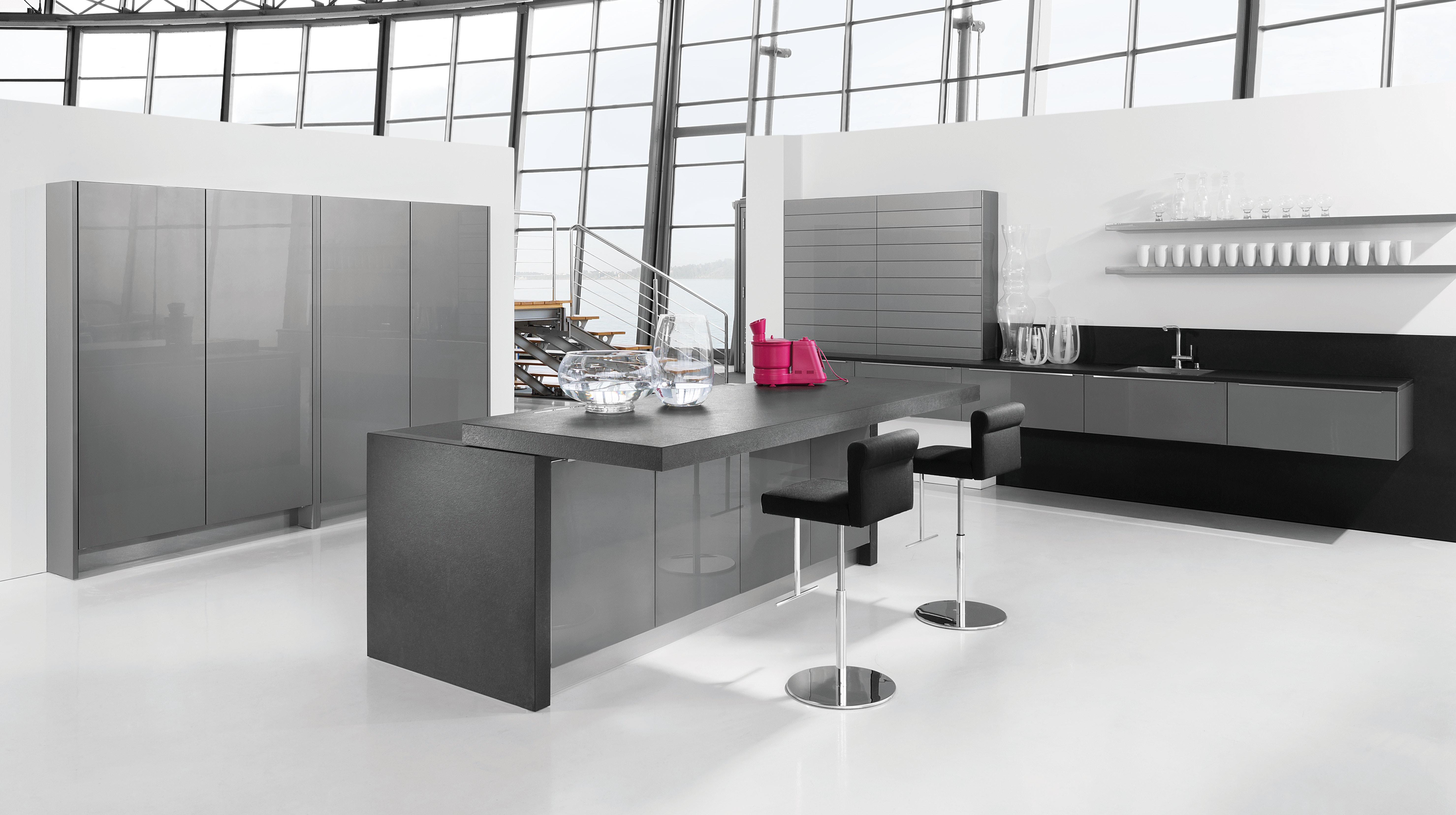 Hochglanz Küche: Vielfalt in Farbe und Beschichtung