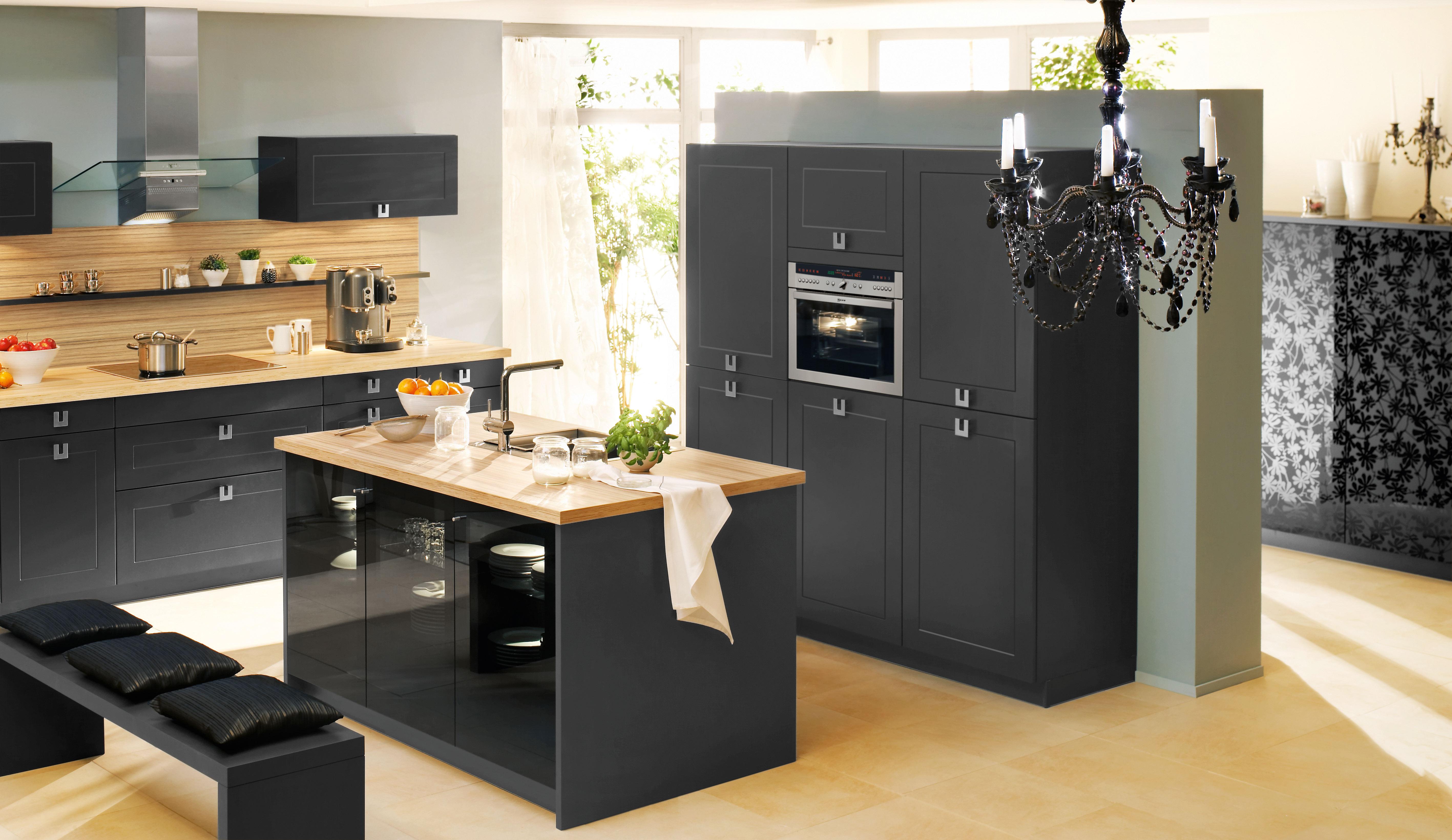 schwarze k che tipps zu einrichtung und gestaltung. Black Bedroom Furniture Sets. Home Design Ideas