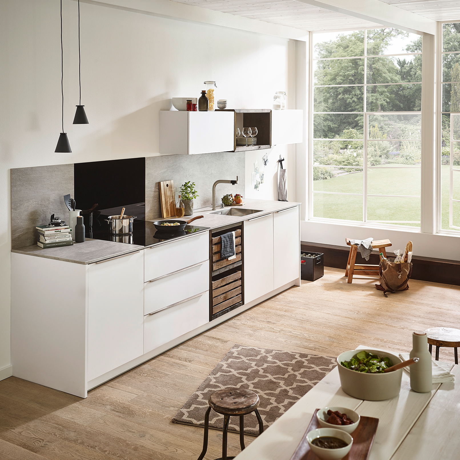 Gut bekannt Küchenrückwand: Holz, Glas oder Metall? UW22